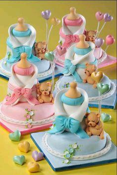 Muito fofos! #baby #shower #pink