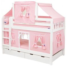 Hot Shot Twin over Twin Low Bunk Bed with Straight Ladder