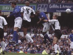28 September 2002 Kevin Campbell leaps to meet a whipped free kick from Mark Pembridge and head the opener against Fulham
