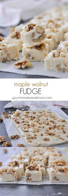 Walnut Fudge Maple Walnut Fudge Recipe for the holidays!Maple Walnut Fudge Recipe for the holidays! Fudge Recipes, Candy Recipes, Dessert Recipes, Just Desserts, Delicious Desserts, Yummy Food, Maple Walnut Fudge Recipe, Maple Fudge, Healthy Afternoon Snacks