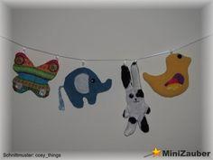Eine tolle Deko fürs Kinder- oder Babyzimmer. Es lässt sich leicht und schnell nähen. Nach dem Schnittmuster von cosy_things.