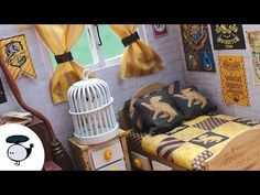 DIY Harry Potter Miniature Dollhouse with Working Lights and Music Box - YouTube