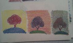 Øverst: de fem farver man tager udgangspunkt i  Nederst: Kobolt, først blandet med hvid, så sort og til sidst begge dele.    Navn: Neocol...