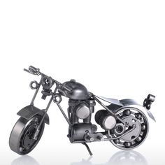 Iron Art Motorcycle Tooarts Home Decoration Modern Sculpture Crafts Gift