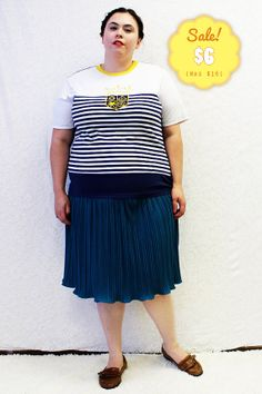 CLEARANCE  Plus Size  Vintage Unisex Navy & White by TheCurvyElle, $6.00
