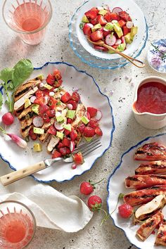May 2016 Recipes: Grilled Chicken Cutlets with Strawberry Salsa