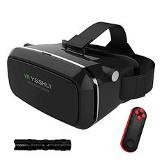 3D VR Glasses YSSHUI 3D VR Headset with Bluetooth Remote Control Cardboard Virtual Reality Mobile Phone 3D Movies Games with Resin Lens for 4760 Inch Cellphone iPhone HuaweiHTCNexusSony * Check out this great product.(It is Amazon affiliate link) #tagblender