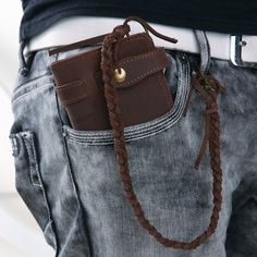 Leather #Wallet #Organizer Leather Chain