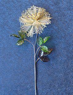 Flor de encaje #flor de encaje #flor bolillos