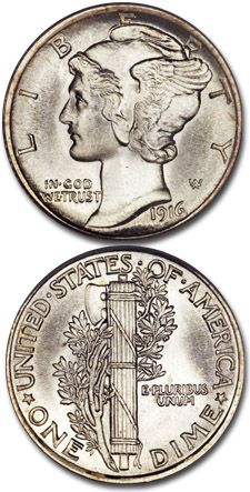 Despite its tiny size, the Mercury dime may well be the most beautiful coin ever made by the U. One thing it doesn't depict, however, is Mercury. Gold And Silver Coins, Silver Bars, Old Coins, Rare Coins, Coins Worth Money, Coin Worth, Old Money, Coin Collecting, The Good Old Days