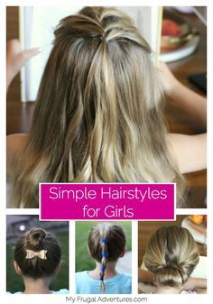 Simple and quick hairstyles for girls. #CelebrateAmericanBeauty #ad