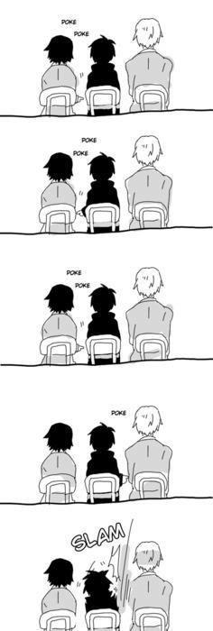 Shinra, Izaya, Shizuo