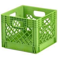 Milk Crate (Green) - hang one above the top bunk to act as a shelf for stuffed animals, etc.