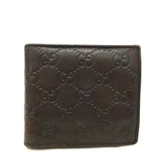 a6836e2aeed7 Auth GUCCI Shima GG Logo Pattern Brown Leather Bifold Wallet /d387 #fashion  #clothing