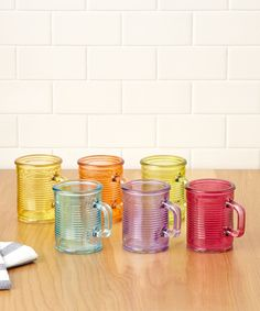 Look what I found on #zulily! Color Mini Mug - Set of Six by Circle Glass #zulilyfinds