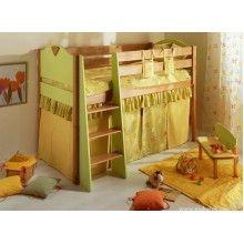 Детская система Эльф-3. Кровать-чердак из бука для ребенка