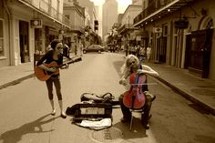 New Orleans (music in the streets).. the best part about this place <3