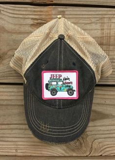 "Judith March Hat w/ ""Jeep Hair Don't Care"" Patch"