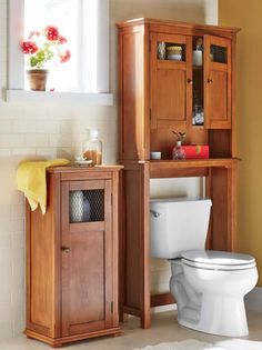 Find clever bathroom storage solutions and Decorate Now, Pay Later! Browse over-the-toilet space savers, wall cabinets, stylish organizers, baskets and more. Clever Bathroom Storage, Bathroom Storage Solutions, Storage Spaces, Toilet Storage, Storage Ideas, Duck Bathroom, Bathroom Ideas, Craftsman Style Bathrooms, Bathroom Design Small