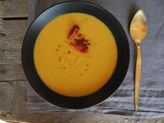 The whole table | Sopa de calabaza y avena