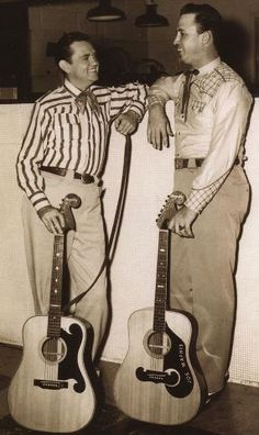 Merle Travis and Joe Maphis pose with their Bigsby acoustics.
