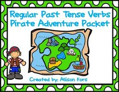 Go on a pirate adventure while learning regular past tense verbs ending in /t/ and /d/!