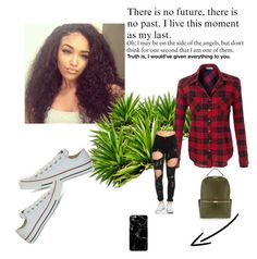 """TBH IDK"" by sydneybafield on Polyvore featuring Converse and Henri Bendel"