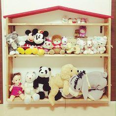 手作り家具/DIY/子供部屋/ぬいぐるみ収納/棚のインテリア実例 - 2016-12-06 07:05:12 | RoomClip(ルームクリップ)
