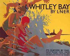 Whitley Bay LNER poster
