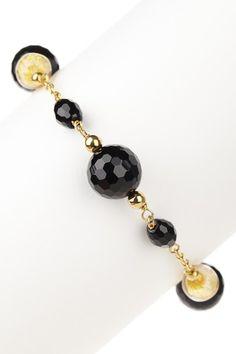 Couture Gems Venetian Murano Glass & Onyx Bracelet