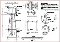 Elevated tank in AutoCAD | CAD download (693.06 KB) | Bibliocad Rain Barrel Stand, Steel Water Tanks, Structured Water, Tank Stand, Water Storage Tanks, Pump House, Tower Design, Concrete Structure, Tank Design