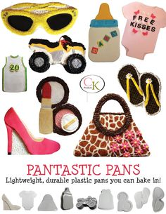 Pantastic Pans - Lightweight, durable plastic pans that you can bake in. Instructions for decorating are included.