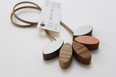 isle wooden necklace by anna wiscombe | notonthehighstreet.com