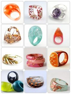 "Exploring unexpected rings, Day 2 ""Put a Ring on It: Resin Rings"""