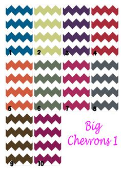Available Big Chevrons 1 Colors