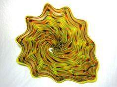 Hand Blown Glass Art Platter Bowl Wall Hanging 53 | eBay