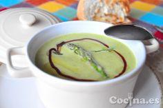 Crema de espárragos trigueros: http://www.blogcocina.es/2013/03/18/receta-crema-de-esparragos-trigueros/