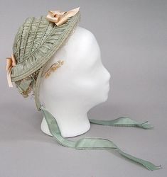 Bonnet Date: 1853–57 Culture: American Medium: silk