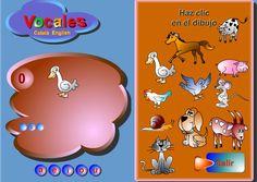 """Juego """"Coloca las vocales""""  IDEAL PARA NIÑOS A PARTIR DE 6 AÑOS. #docencia #juegos #educacion  http://www.seclen.com/iniciar_juego.php?id_juego=148"""