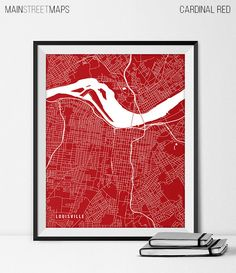 Louisville Kentucky State Map Art Print by MainStreetMaps on Etsy https://www.etsy.com/listing/226728642/louisville-kentucky-state-map-art-print?ref=shop_home_active_1