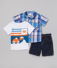 Another great find on #zulily! Blue 'Dig Dirt' Shorts Set - Infant, Toddler & Boys #zulilyfinds