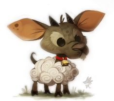 Daily Paint #646. Quickie Sheep by Cryptid-Creations.deviantart.com on @deviantART