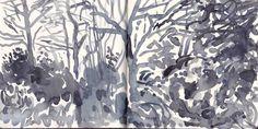 "dionyssos: "" David Hockney , Yorkshire sketchbook "" This is by martin beek, not…"