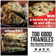 IT'S TGT FREEBIE FRIDAY! Save this pic by (include current date - 'September for example) at midnight to win a freshly baked batch of Classic Too Good Triangles and prepare yourself for the ultimate mouthgasm. Happy 6th Birthday, Happy 40th, Birthday Cake, Queen, Freshly Baked, Vegan Gluten Free, Delicious Desserts, Yummy Food, Healthy Food
