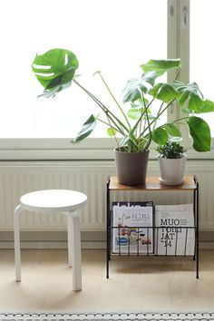 Love the small table with wire rack!