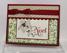 Cynthia's Creative Cuts: STAMPIN' UP! BELLS AND BOUGHS