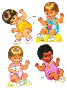 SunBean Baby pd's - Carol Starks - Picasa Webalbum* For lots of free paper dolls International Paper Doll Society #ArielleGabriel #ArtrA thanks to Pinterest paper doll collectors for sharing *