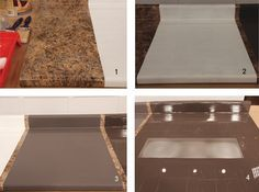 How to paint laminate counters, step by step.