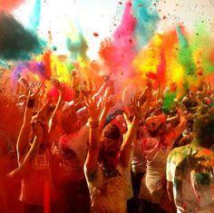 #Holi - color festival