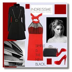 """RED"" by dodine ❤ liked on Polyvore featuring moda"